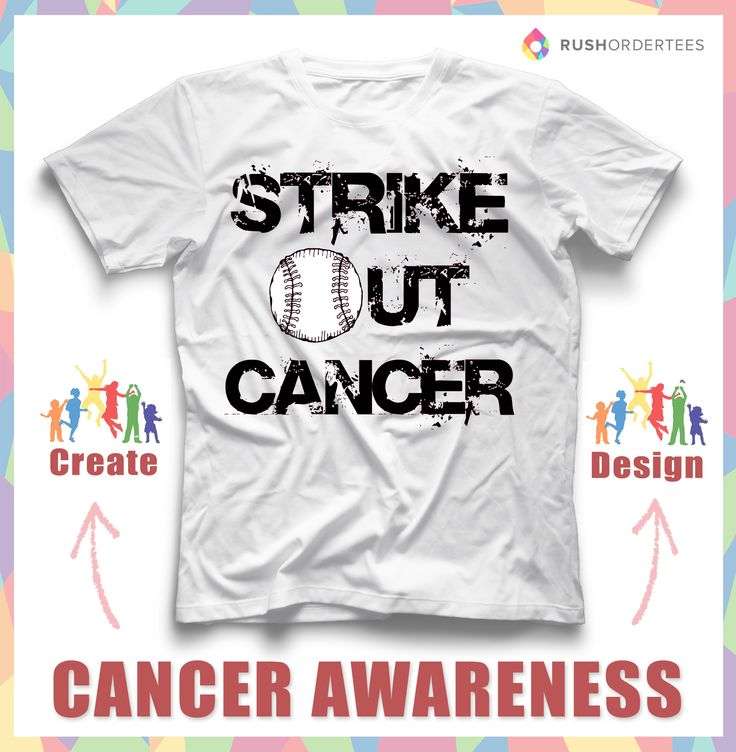 Baseball T Shirt Designs Ideas iza design blogthe best baseball slogans and quotes for t shirts Strike Out Cancer Creative Cancer Awareness Custom T Shirt Design Idea Create