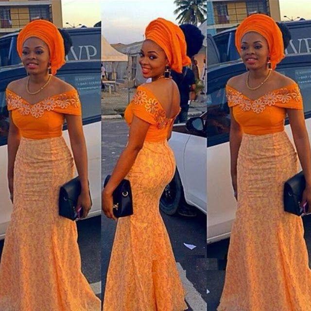 Beautiful Lace Long Gown Design for Ladies - DeZango Fashion Zone