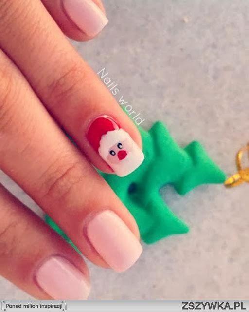paznokcie na święta