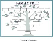 More than 100 family tree templates you can download and print for free. #genealogy