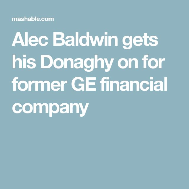 Alec Baldwin gets his Donaghy on for former GE financial company