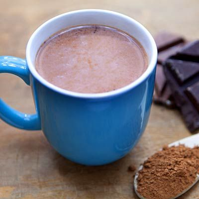 The occasional indulgence turns out to be the best way to maintain a healthy weight. For a healthier Hot Chocolate alternative, cut down on sugar & calories by mixing 2T dark unsweetened cocoa powder, 1c skim milk, & 2t sugar.