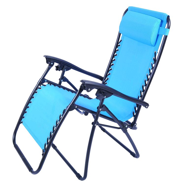 Folding Beach Lounge Chair With Footrest