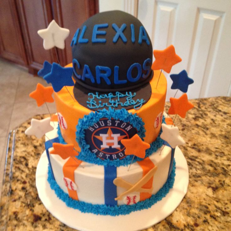 12 best astros cakes images on Pinterest 5th birthday Cake