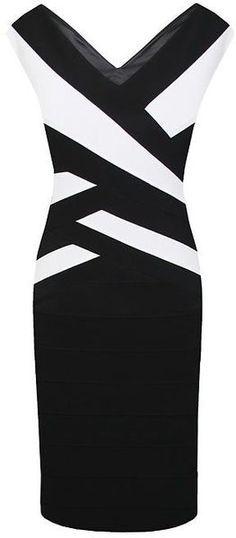 Alexon Black Bandage Ottoman Dress