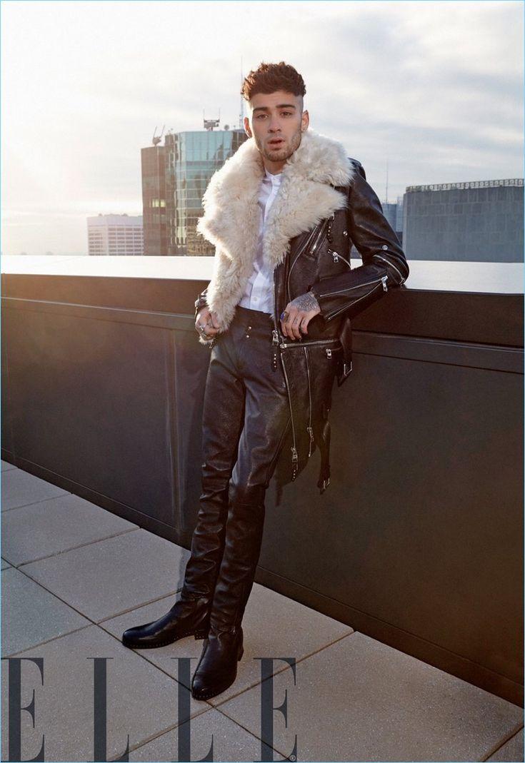 Singer Zayn Malik wears a leather look by Alexander McQueen.