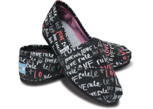 Toms - Womens Pink Let Love Rule Classic Shoes: Women S, Fashion, Style, Tom Shoes, Vegans, Toms Shoes, Rule Toms, Rule Vegan