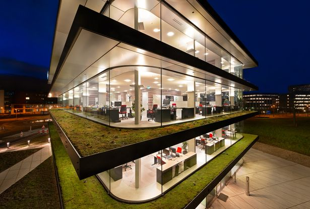 Sigmax, headquarters | Paul de Ruiter Architects; Landscape architect: OKRA landscape architects; Photo: Pieter Kers, Daria Scagliola, Toon Grobet | Archinect