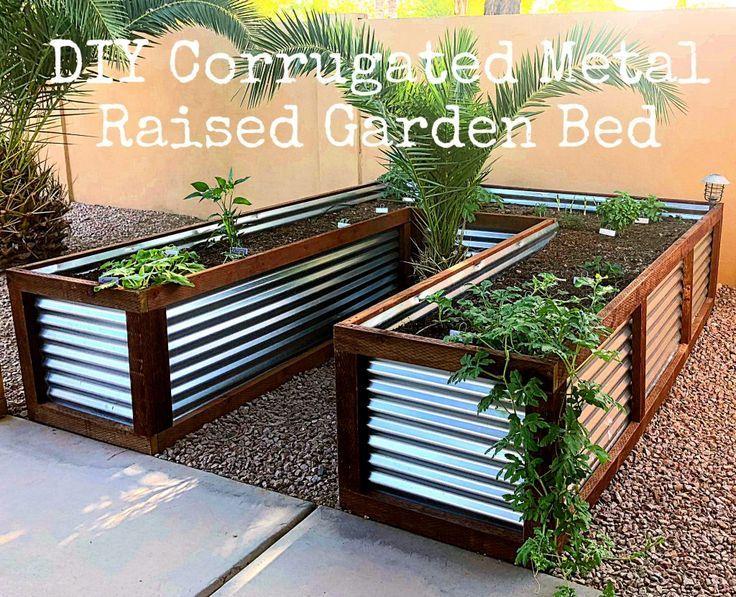 Diy Corrugated Metal Raised Garden Bed Metal Raised 400 x 300