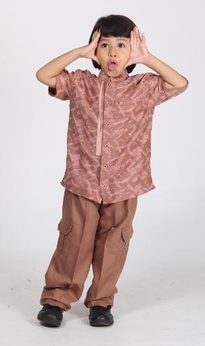 Baju Koko Anak MAJMA KIDS 05 COKLAT Size 10 - BIG SALE