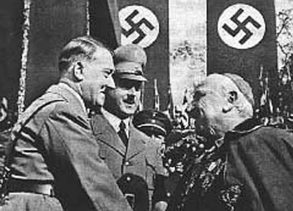 In the 20th century, during WWII, armies were still fighting for the antichrist, Hitler, Mussolini, and Franco, each one a faithful Roman Catholic serving the pope, tried to conquer the world for him......and set up his millenial kingdom.