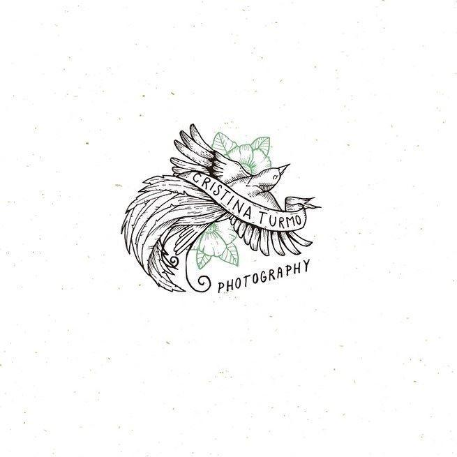 Second design  . . . . #oldschool #logo #green #artoftheday #handdrawn #branding #bird #photography #vsco