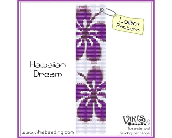 Bead Loom Bracelet Pattern Hawaiian Dream  by VikisBeadingPatterns