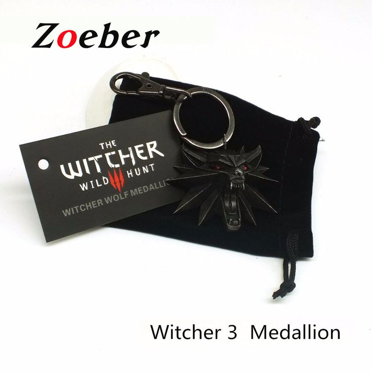 Zoeber Medallion video game Witcher Keychain high quality Witcher 3 Wild Hunt black Key Ring Wolf Head Alloy Key Chains for man //Price: $US $2.80 & FREE Shipping //     #hashtag2