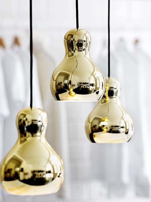 gold calabash pendant lights