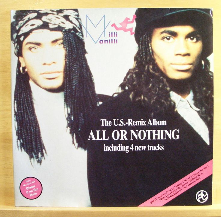 MILLI VANILLI - All or nothing - Vinyl LP - Frank Farian -Girl you know its true