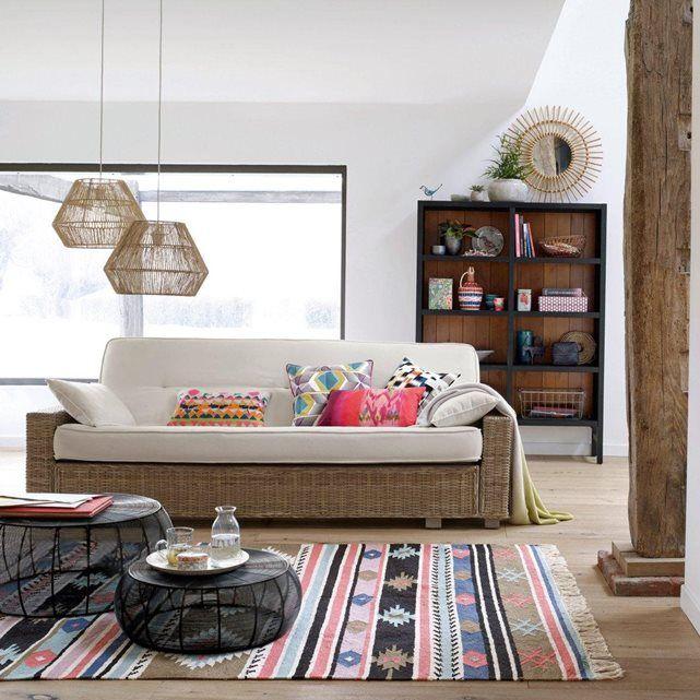 Tapis kilim Ilzire. Le tapis kilim 100% coton apporte à votre intérieur un goût d'ailleurs.