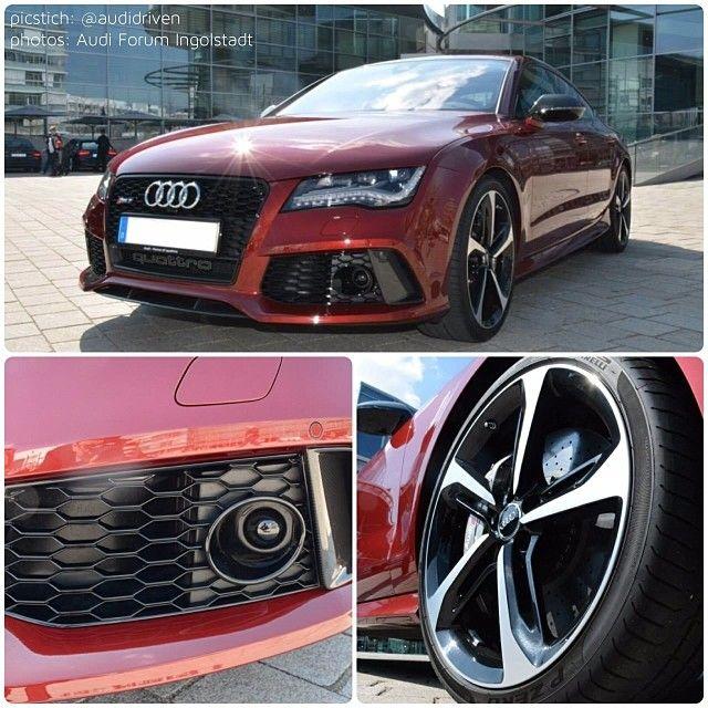 How about a #VeronaRed #AudiExclusive #RS7?   #AudiRS7 #Audi #quattro #red #Audicolor   #picstich: @AudiDriven photos: #AudiForumIngolstadt