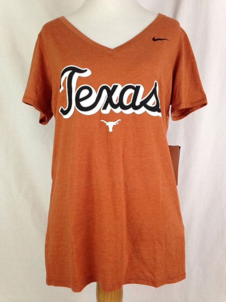 Texas Longhorns Nike Womens Shirt L Size V-Neck Athletic Cut Big 12 Football NWT #Nike #Texas #TexasLonghorns #Longhorns #Big12 #CollegeSports #College #Football #Ebay #EbaySeller #EbaySellers #EbayDeals #EbayStore #EbayLife #EbayReseller #Reseller #ResellerLife #Thrift #Thrifting #ThriftingLife