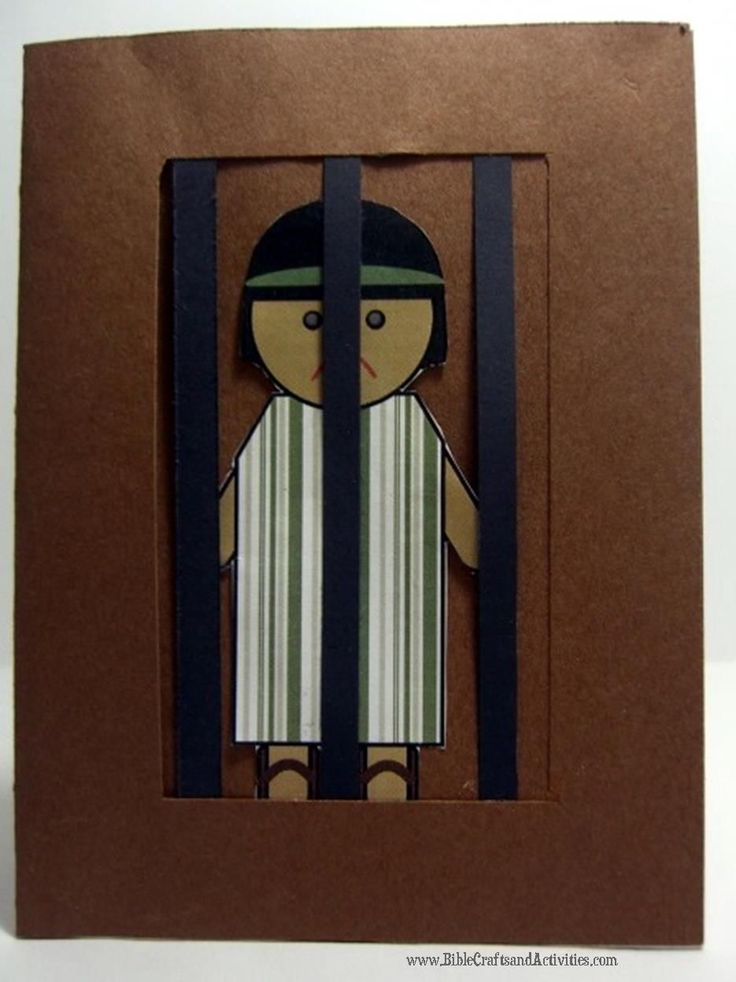 Story of Joseph in Jail Craft - Printable available from www.BibleCraftsandActivities.com