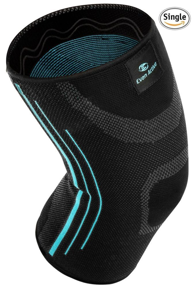 Even Active Knee Compression Sleeve Knee Brace Wrap Support Pain Relief, Large #EvenActive