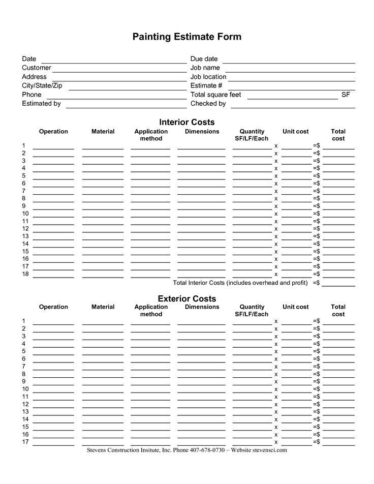 New Excel Estimates Templates exceltemplate xls
