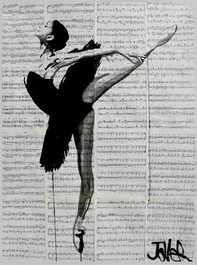 "Saatchi Online Artist Loui Jover; Drawing, ""the black tutu"" #art"