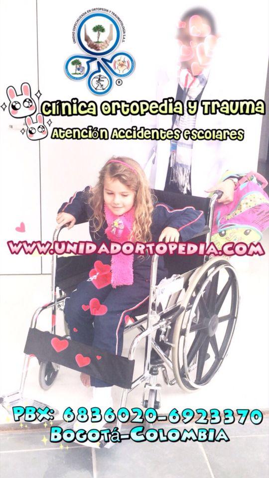 Clinica en Bogotá experta en Atencion de Accidentes Escolares Unidad Especializada en Ortopedia y Traumatologia en Bogota - Colombia PBX: 6923370 www.unidadortopedia.com