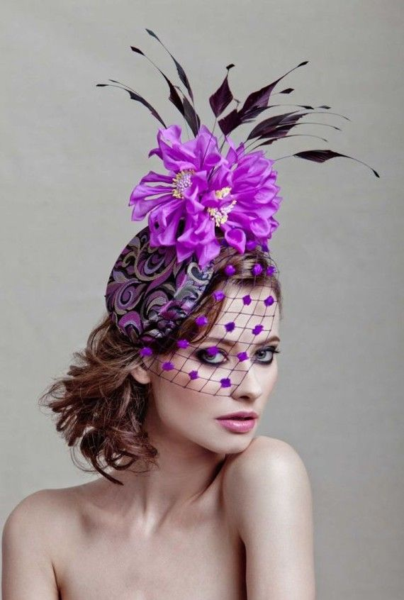 A wildly wonderful fascinator - that actually makes a lady look pretty - not goofy!