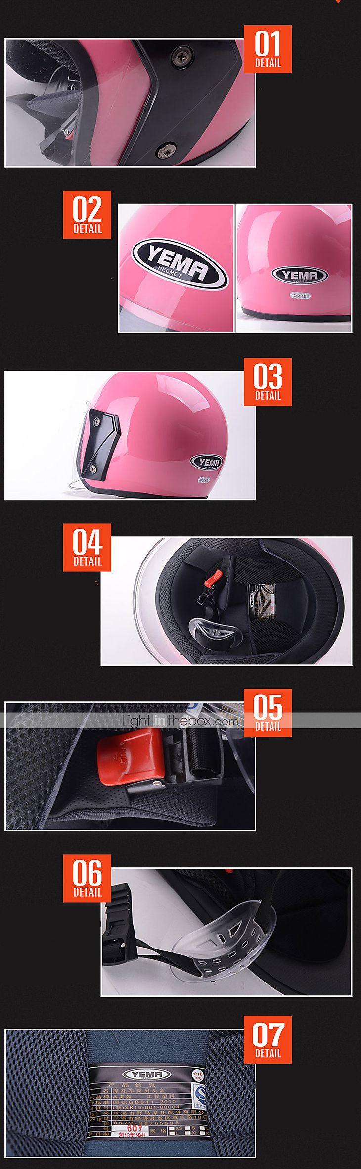 Medio Casco Anti-UV Respirante Los cascos de motocicleta
