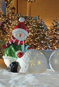 Fiber Optic Snowman