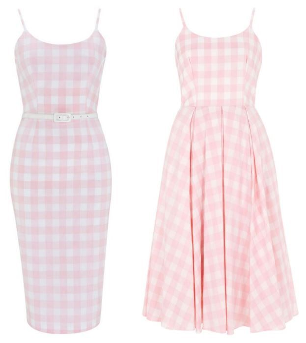 Priscilla Pink Gingham Pencil Dress & Priscilla Pink Gingham Midi Dress #fashion #style #print #pattern #check #gingham #elegant #chic #classic #sophisticated #retro #vintage #fifties #50s #1950s #theprettydress #theprettydresscompany