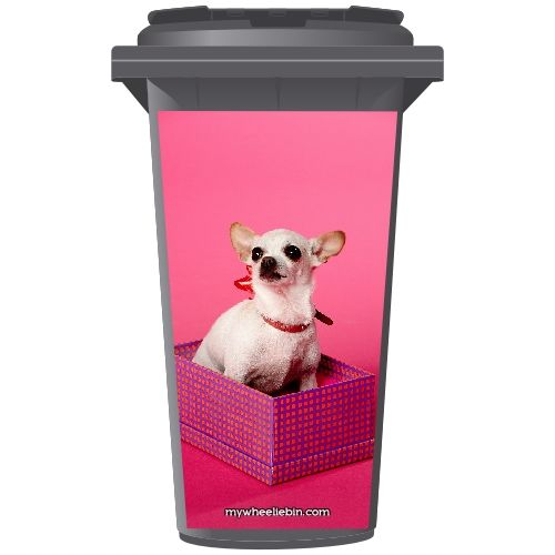 Chiwawa In A Box Wheelie Bin Sticker Panel