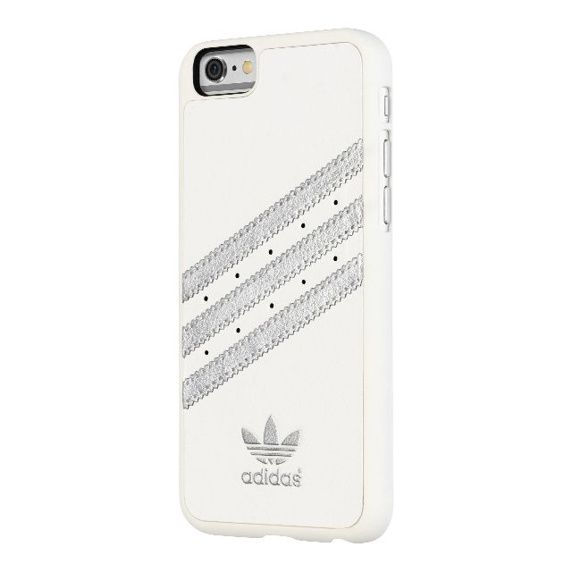 【【iPhone6 ケース】adidas Moulded Case White/Silver】● デザインと素材のこだわり トレフォイルロゴと3ストライプが…
