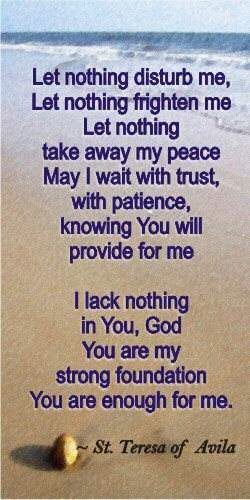 Let us trust in the lord