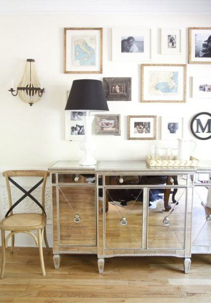 m: Wall Photo, Dining Rooms, Photo Collage, Mirror Sideboard, Mirror Furniture, Interiors Design, Galleries Wall, Mirror Consoles, Art Wall
