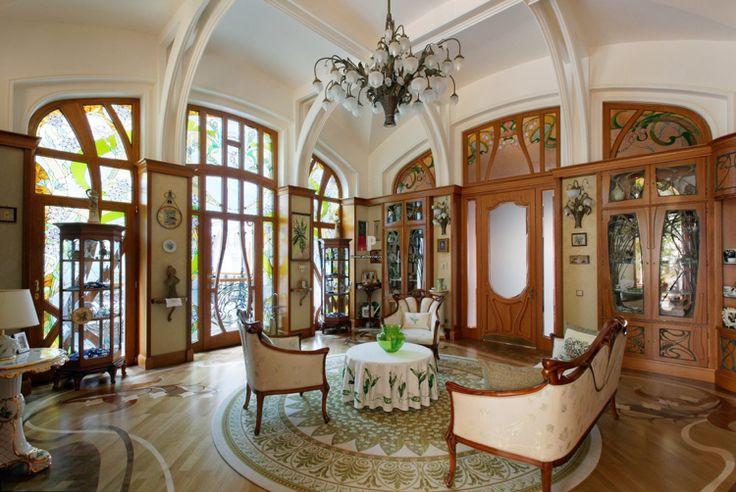 Dekoration der ornamentreiche jugendstil in der - Einrichtung dekoration ...