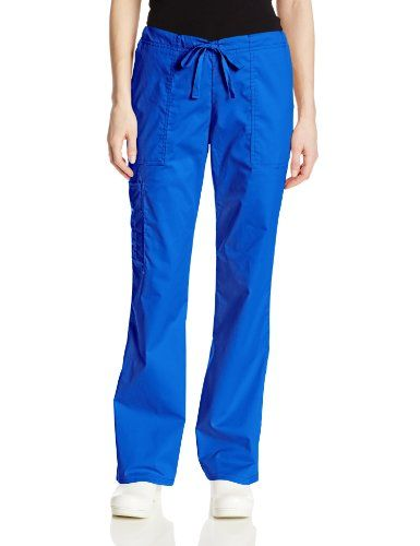 Cherokee Women's Tall Workwear Scrubs Core Stretch Drawstring Cargo Pant, Royal, Small/Tall. Size: Small Tall. Instrument loop. Soft elastic waistband. Machine Wash. Imported. 55% Cotton/42% Polyester/3% Spandex.