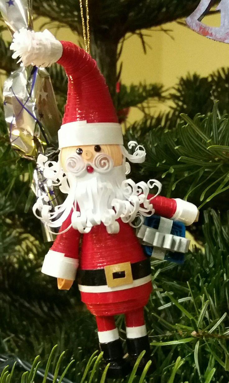 quilling 3d Santa