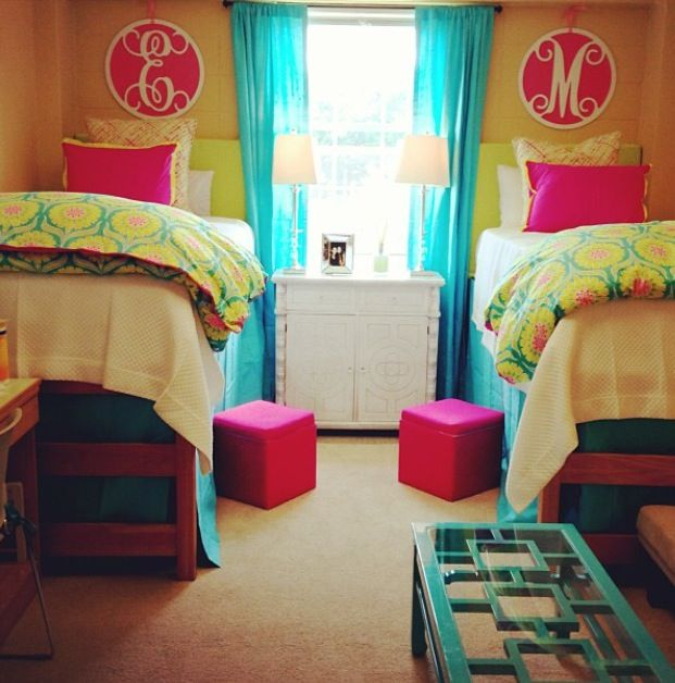 Colorful Dorm Room: Initials, Cute Dorm Rooms And India On Pinterest