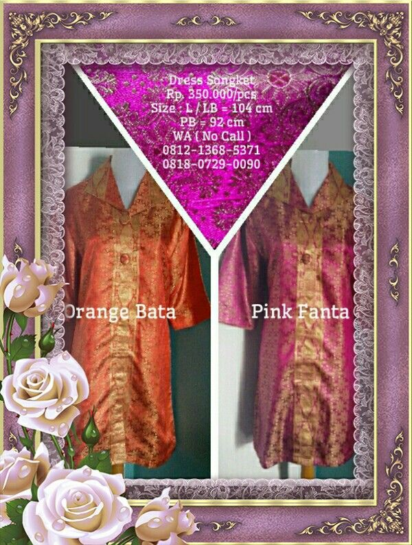 Dress Songket Ket & Order : Lihat di foto