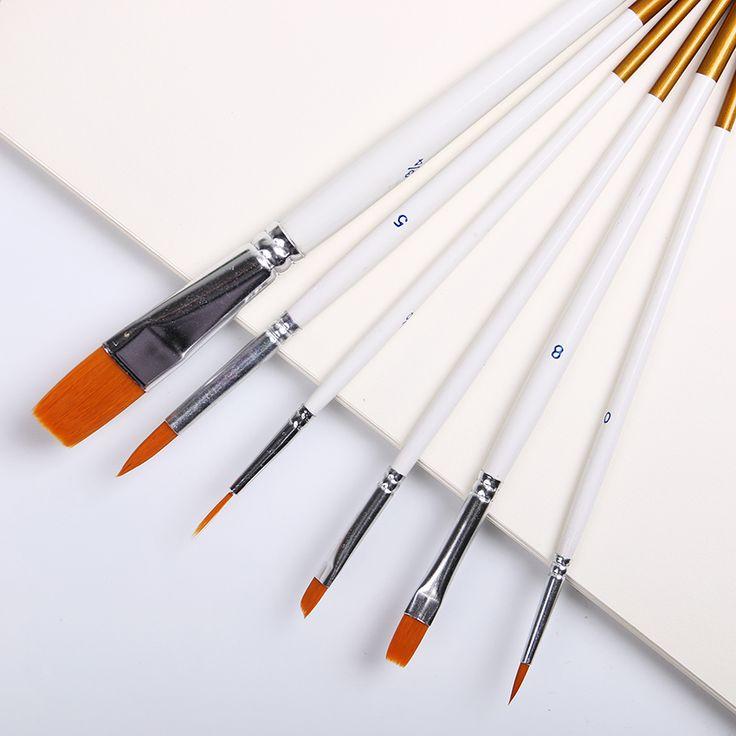 6 Pz/set Caldo di Nylon Dei Capelli Strumenti Didattici Scuola Penna Gancio Linea Pittura Rifornimenti di Arte
