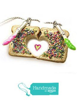 Fairy Bread Friendship Necklaces, Set of 2, Personalized ~ Food Jewelry from HugsKissesMINI http://www.amazon.com/dp/B01752PFB4/ref=hnd_sw_r_pi_dp_1ppmwb0X8HG0E #handmadeatamazon