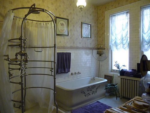 Retro Cage Shower Bathroom Victorian Bathroom Vintage
