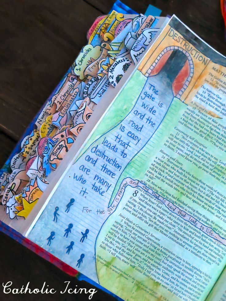 Beautiful examples of Catholic Bible Journaling!