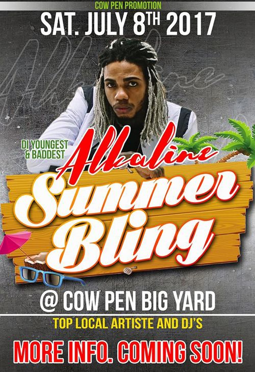 SUMMER BLING ft Alkaline from Jamaica - July 8th, 2017 @ The Cowpen