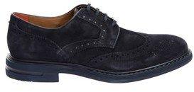 Brimarts Men's Blue Suede Lace-up Shoes.