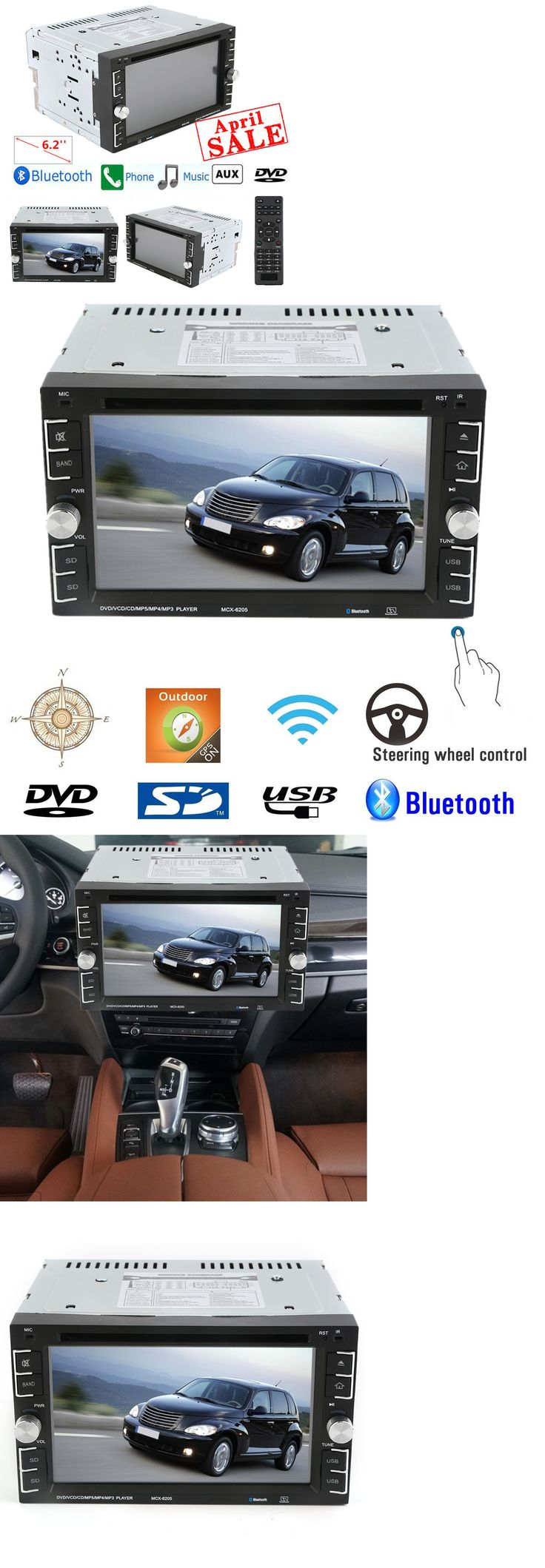 Vehicle Electronics And GPS: Bluetooth Car Stereo Dvd Cd Player 6.2 Double 2Din Radio Ipod Sd/Usb In-Dash Hd -> BUY IT NOW ONLY: $66.77 on eBay!