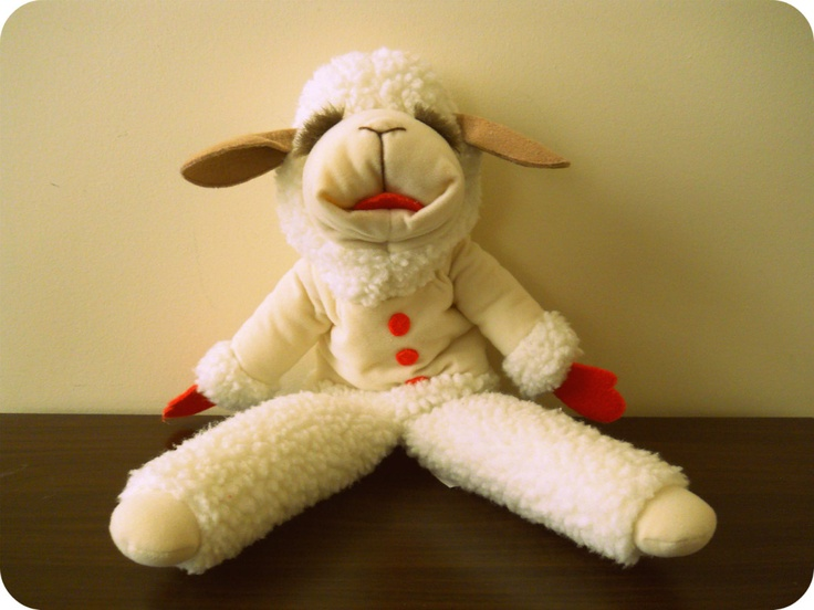 Aww, I used to love this show!! Lamb Chop's Puppet from Lamb Chop's Play-Along with Shari Lewis. $22.39, via Etsy.