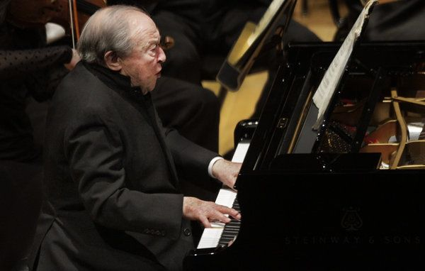 Menahem Pressler a wonderful pianist we have seen perform on many occasions at the Banff Center...